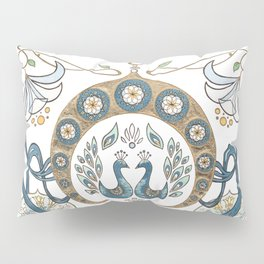 Every Girl Is A Princess 03: Arabian Nights Art Nouveau Aladdin's Princess Jasmine and Rajah Pillow Sham