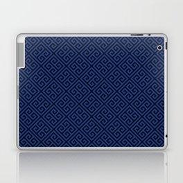 Navy Geometric Greek Key Pattern Laptop & iPad Skin