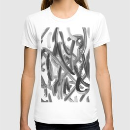Brushstroke 1  black white T-shirt