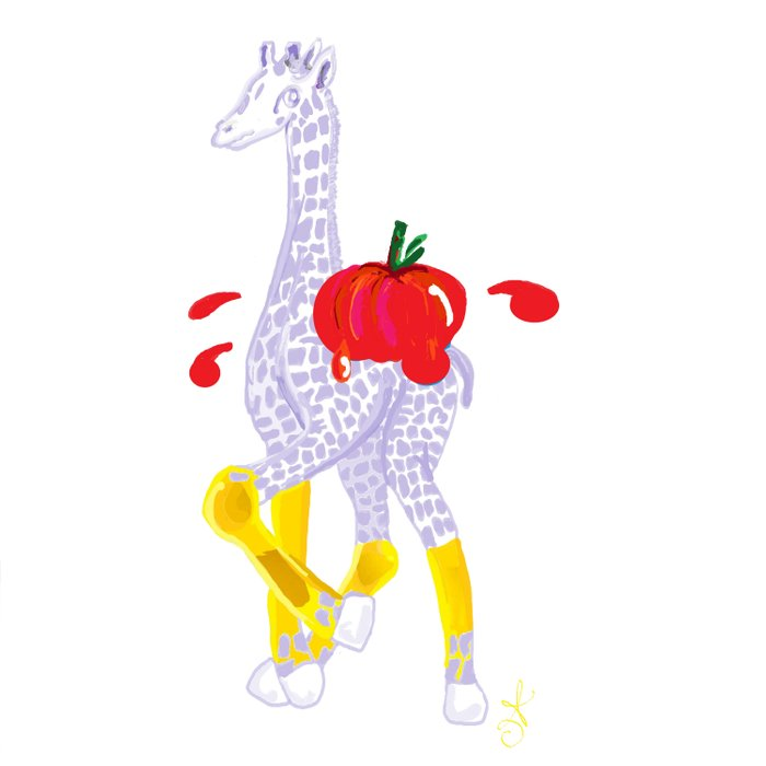 Thanksgiving Food Fight Tomatoe - Midas is Ready - Christmas Lavender Giraffe Comforters