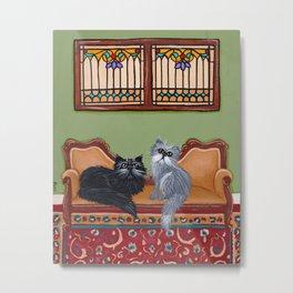 The Persian Cat's Room Metal Print