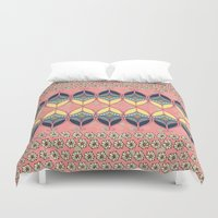 boho Duvet Covers featuring Boho Daisy by RED ROAD STUDIO