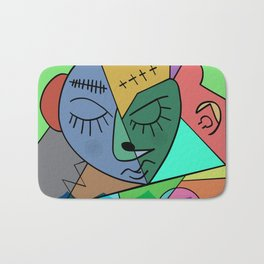 Sleepy Face Bath Mat