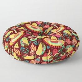 Spicy taco Floor Pillow