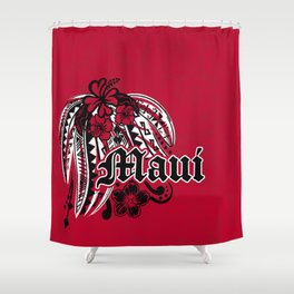 Maui Poly Tribal Distressed Shower Curtain