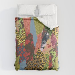 Patchwork of patterned textures abstract style Comforters