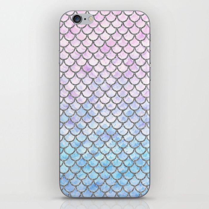 Pastel Mermaid Scales Pattern iPhone Skin