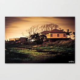 Myrtle Town At Midnight Canvas Print