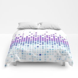 Falling Squares Comforters