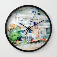 american beauty Wall Clocks featuring American Beauty by Bowles Fine Paintings