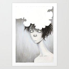 Her Unspoken Delight Art Print