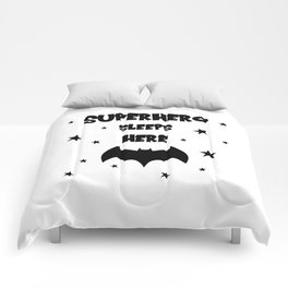Superhero Sleeps Here Comforters