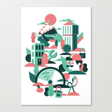 A sunny morning in Milan Canvas Print