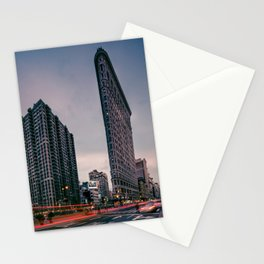 Flatiron Building with Light Trails, New York Stationery Cards