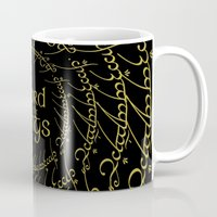 lord of the rings Mugs featuring The Lord Of The Rings by Janismarika