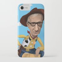 woody allen iPhone & iPod Cases featuring Woody Allen by Joshua Ang