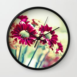 Raspberry Bokeh Wall Clock
