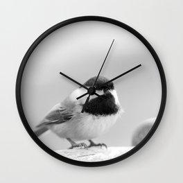 Little Woodland Chickadee Wall Clock