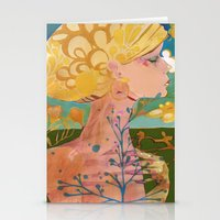 blondie Stationery Cards featuring Blondie by Bailey Saliwanchik