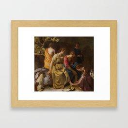 "Johannes Vermeer ""Diana and her Companions"" Framed Art Print"