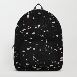 Terrazzo Memphis black galaxy Backpack