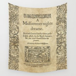 Shakespeare. A midsummer night's dream, 1600 Wall Tapestry