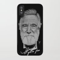 robin williams iPhone & iPod Cases featuring Robin Williams by Svartrev
