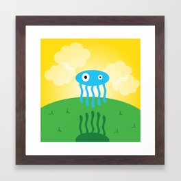 Sunrise Jelly Fish Framed Art Print