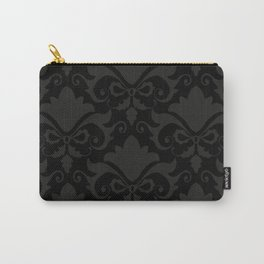Black Damask Carry-All Pouch