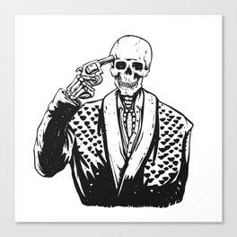 Suicide skeleton illustration Canvas Print