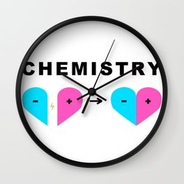 Opposites Attract Wall Clock