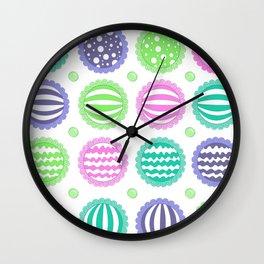 Sugar Treats Pattern Print Wall Clock