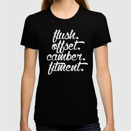 flush offset camber fitment v6 HQvector T-shirt