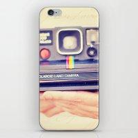 polaroid iPhone & iPod Skins featuring Polaroid by Irene Miravete