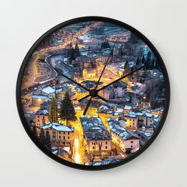 Christmas Village Wall Clock