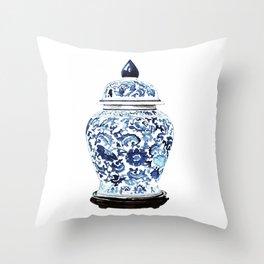 GINGER JAR NO. 4 PRINT Throw Pillow