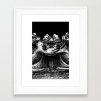 hydra Framed Art Prints featuring Hydra by Meatard