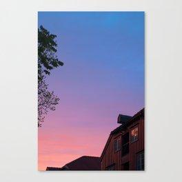midnight sun (trondheim) Canvas Print