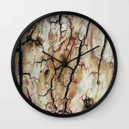 Cracked tree bark  Wall Clock