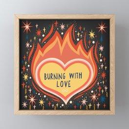 Burning with love Framed Mini Art Print