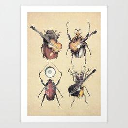 Meet the Beetles Art Print
