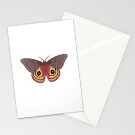 io moth (Automeris io) female specimen 1 Stationery Cards