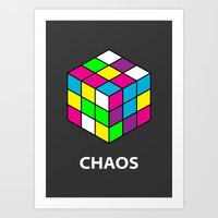 chaos Art Prints featuring Chaos by Dizzy Moments
