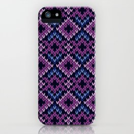 Argyle Knitted Pattern iPhone Case