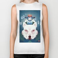 princess mononoke Biker Tanks featuring Princess Mononoke by Roberta Oriano