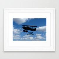 airplane Framed Art Prints featuring airplane by Karl-Heinz Lüpke