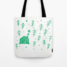 Swimming in the woods Tote Bag