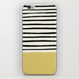 Daffodil Yellow x Stripes iPhone Skin