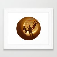 football Framed Art Prints featuring Football by Anastassia Elias