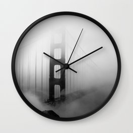 Into the Fog (Golden Gate Bridge) Wall Clock